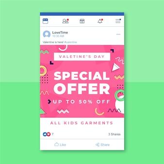 Facebook-beitrag zum kindlichen valentinstag in memphis