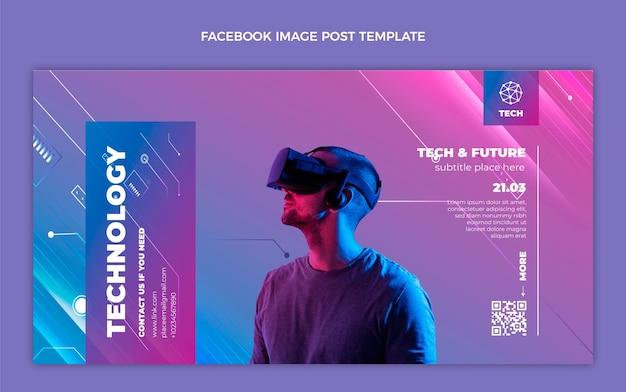 Facebook-beitrag zur technologie der farbverlaufstextur