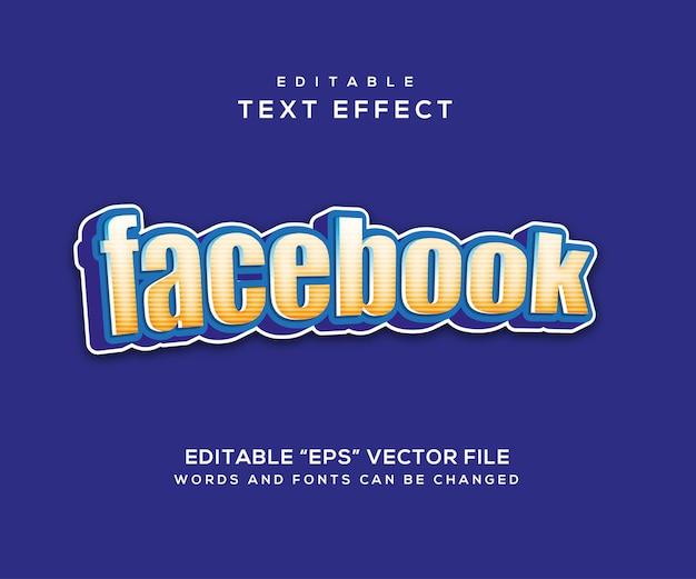 Facebook blue style texteffekt
