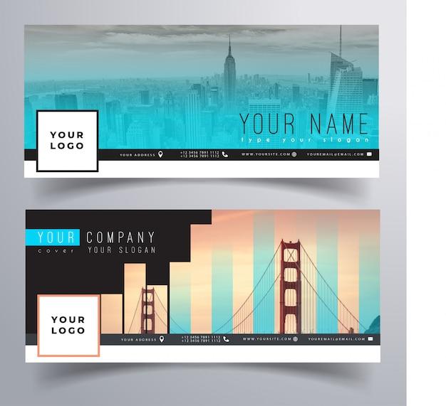 Facebook corporate cover-vorlage mit farbverlauf