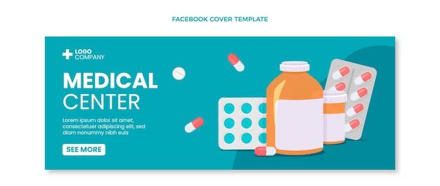 Facebook-cover des flachen designs des medizinischen zentrums