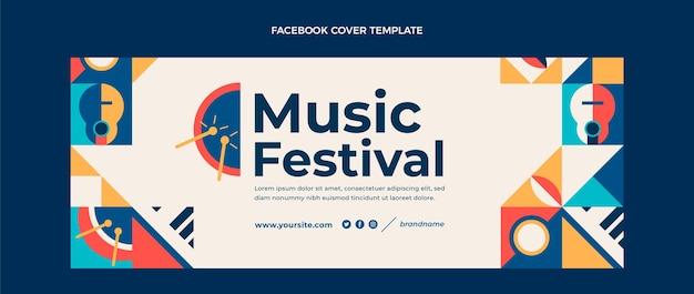 Facebook-cover des flachen mosaik-musikfestivals