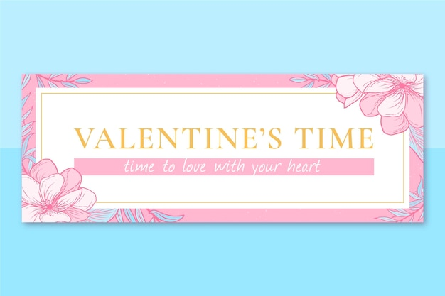 Facebook-cover des floralen eleganten valentinstags