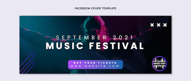 Facebook-cover des halftone music festivals
