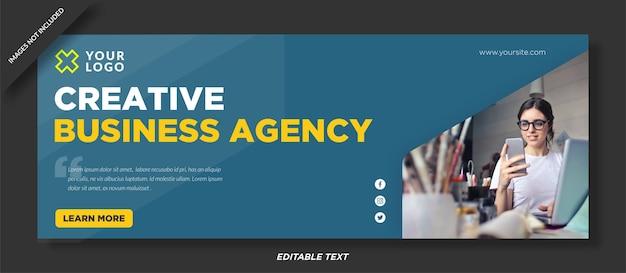 Facebook cover design der agentur für digitales marketing Premium Vektoren