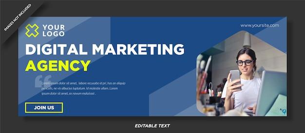 Facebook cover design der agentur für digitales marketing