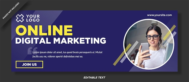 Facebook-cover-design für digitales marketing