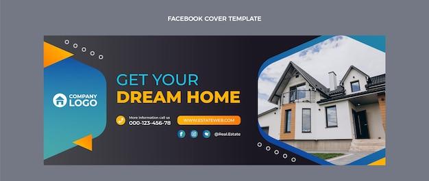 Facebook-cover für immobilien mit farbverlauf