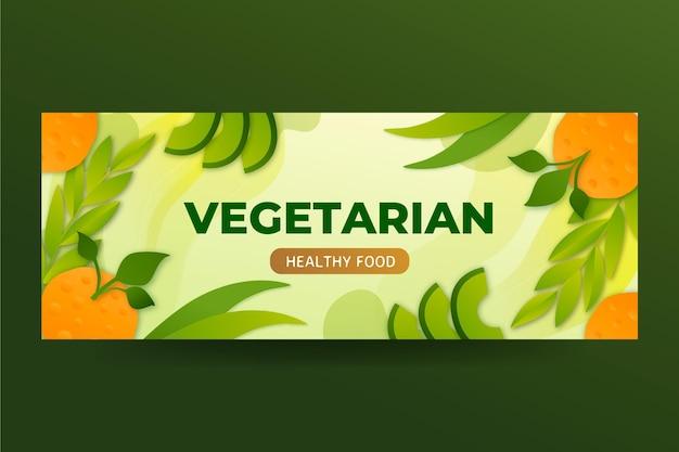 Facebook-cover für vegetarisches essen mit farbverlauf