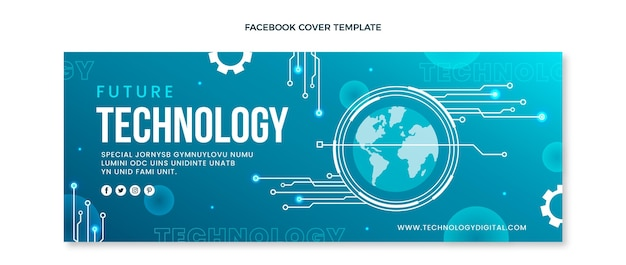 Facebook-cover mit minimaler technologie