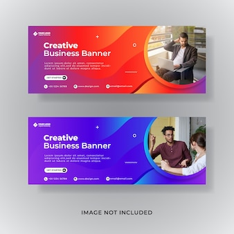 Facebook-cover-vorlage für digitales marketing