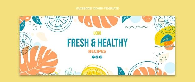 Facebook-cover-vorlage für lebensmittel
