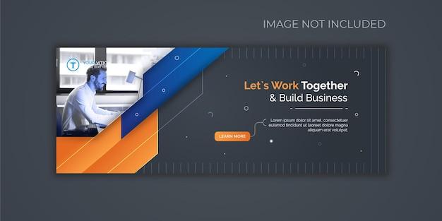 Facebook-cover-vorlage für marketing für unternehmen und digitales business