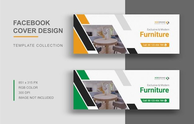 Facebook-cover-vorlage für möbeldesign