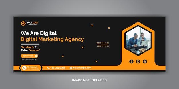 Facebook-cover-vorlage für social media-unternehmen für digitales marketing