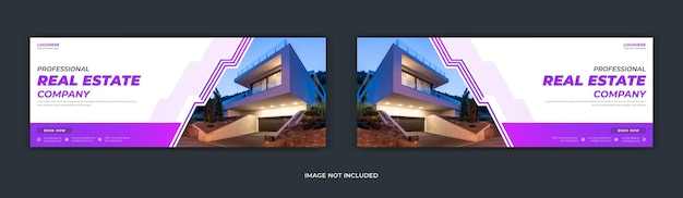 Facebook-deckblatt des immobilienunternehmens