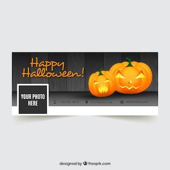Facebook der glücklichen halloween-abdeckung