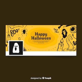 Facebook-fahne mit halloween-konzept