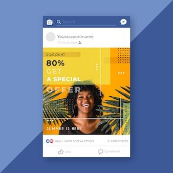 Facebook fashion sale post Kostenlosen Vektoren