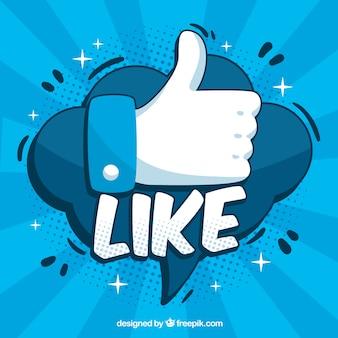 Facebook-hintergrund mit ähnlicher ikone