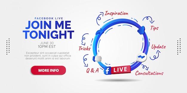 Facebook live-streaming-design für ihr unternehmen