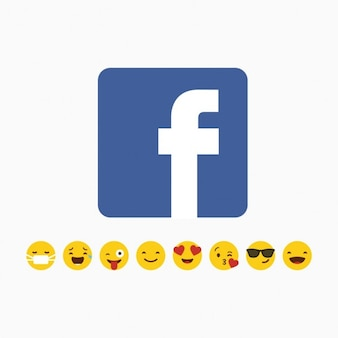 Facebook logo mit emoji icon-set