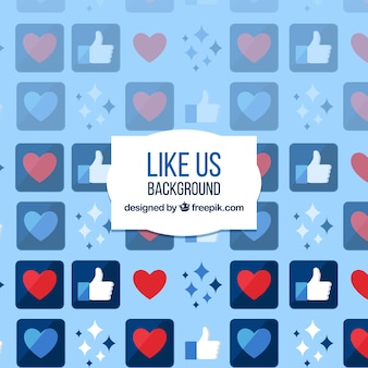 Facebook mag hintergrund