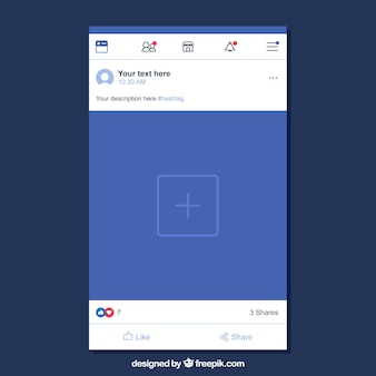 Facebook mobile post mit flachem design