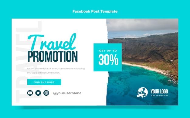 Facebook-post für reisen im flachen design