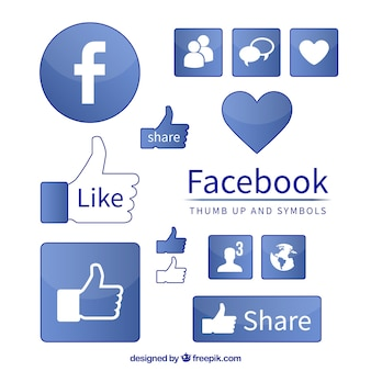 Facebook-symbol symbole