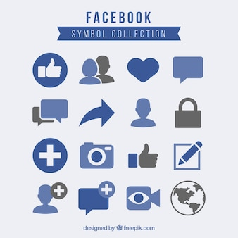 Facebook symbolsammlung