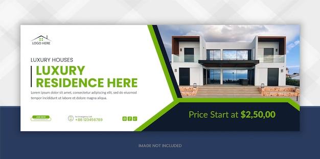 Facebook-timeline-cover-banner für immobilien und webbanner für digitales marketing