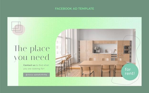 Facebook-vorlage für immobilien mit farbverlauf