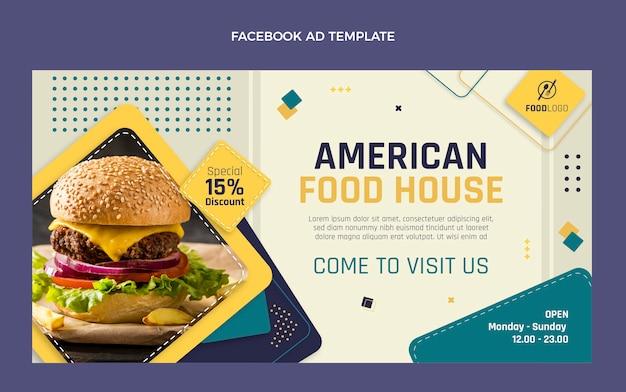 Facebook-werbung für flaches essen