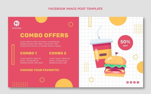 Facebook-werbung im flachen design