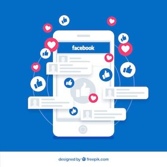 Facebook wie mit elektronischem Gerät