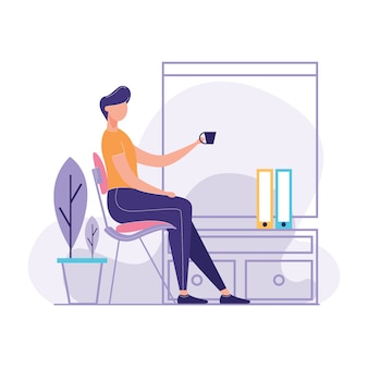 Facelessman relaxing arm chair