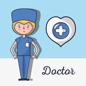 Facharzt mit herz und kreuz nach innen