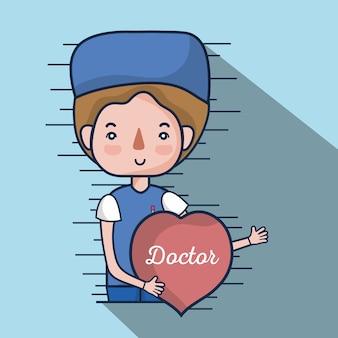 Facharztdoktor mit herz