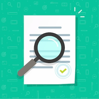 Fachwissen zu geschäftsrechtsdokumenten oder inspektionsillustration