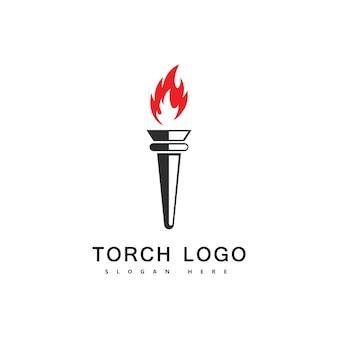 Fackelfeuer-logo-vektor-symbol
