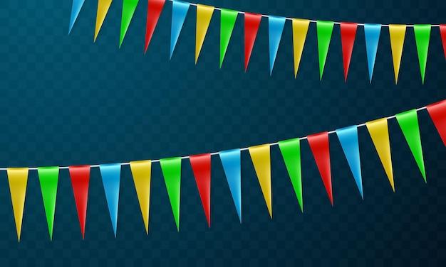 Fahne bunte konzeptentwurfs-feiertags-glücklichen tag