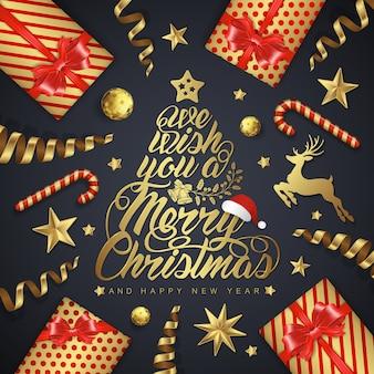 Fahne der frohen weihnachten und des guten rutsch ins neue jahr