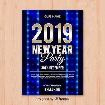 Fahne des neuen jahres 2019