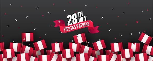 Fahne oder plakat der peru-unabhängigkeitstagfeier