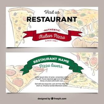 Fahnen der pizzeria