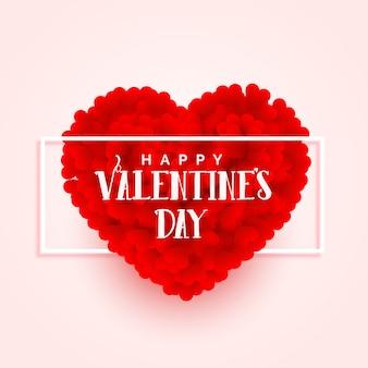 Fahnenauslegung des herzens des valentinsgrußtag 3d