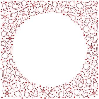 Fahnenillustration des weihnachtsneuen jahres. rahmen