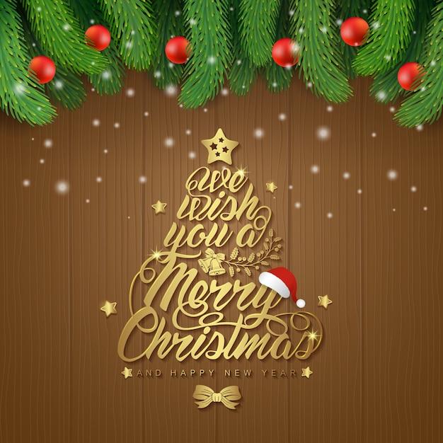 Fahnenschablone der frohen weihnachten und des guten rutsch ins neue jahr