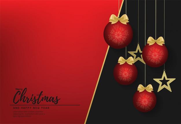 Fahnenvektor der frohen weihnachten und des guten rutsch ins neue jahr